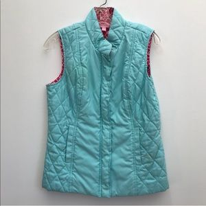 [Lilly Pulitzer] Aqua Blue Quilted Vest